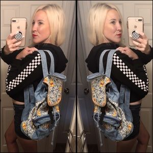 Rad, VINTAGE, DISNEY, POOH, denim backpack!!